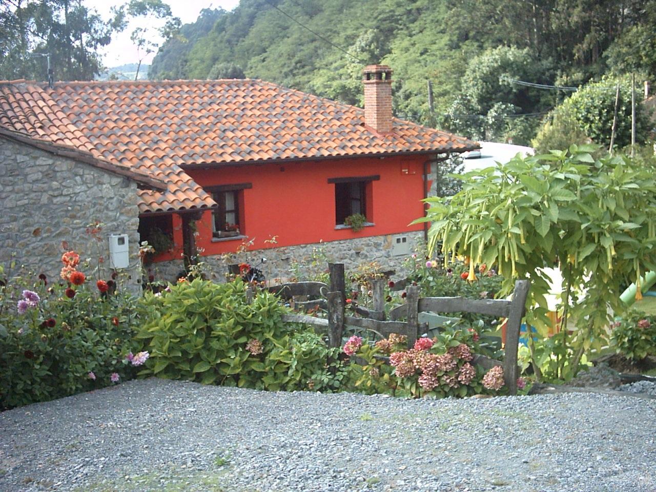 Aussenbereich Ferienhaus Rincon Sella Asturias