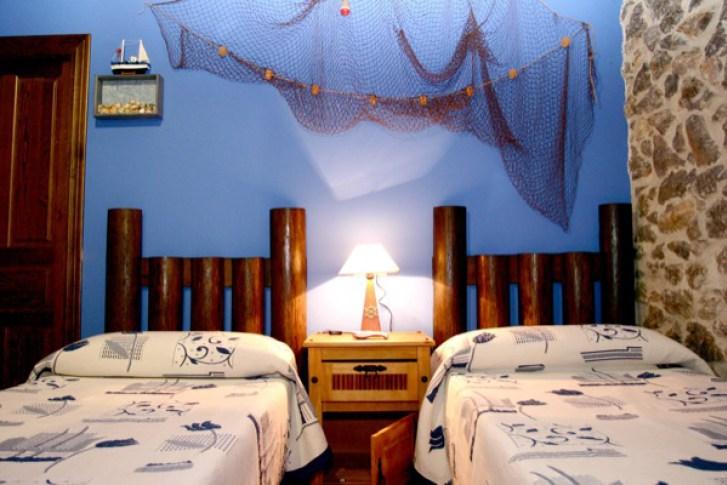 Bedrooms la Atalaya el Rincon del Sella cottage