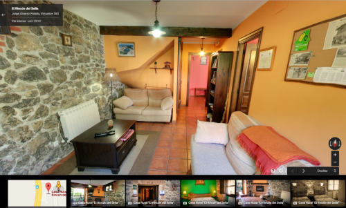 Ferienhaus Virtueller Rundgang Rincon Sella Asturias