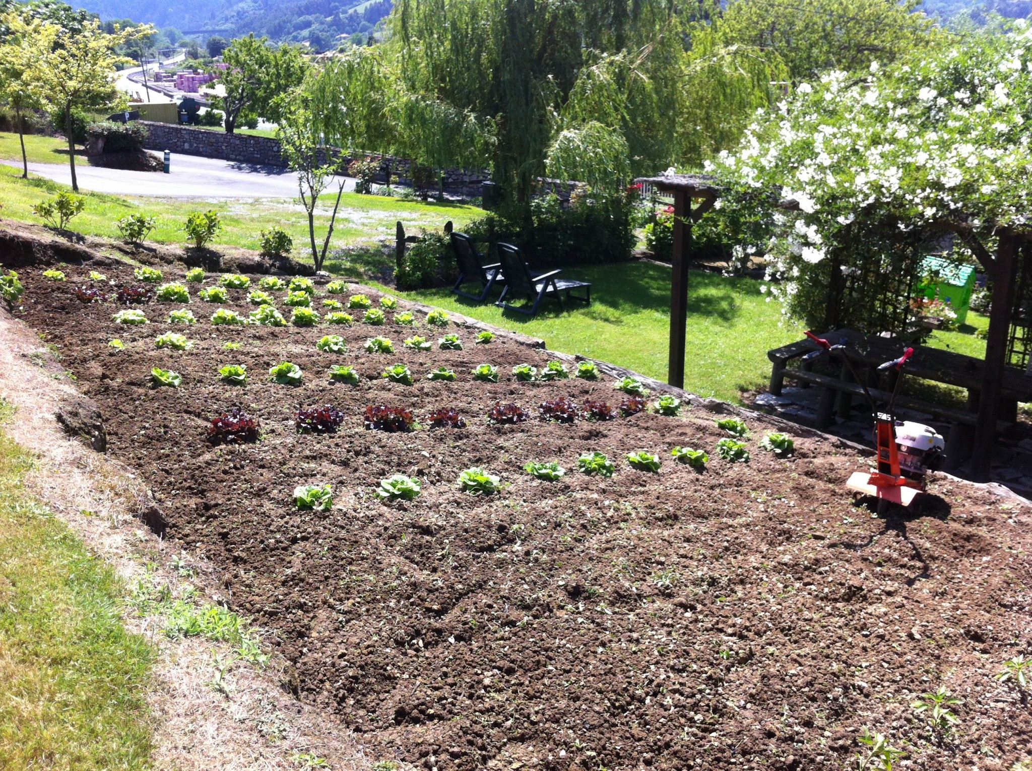 Garten Ferienhaus Asturias