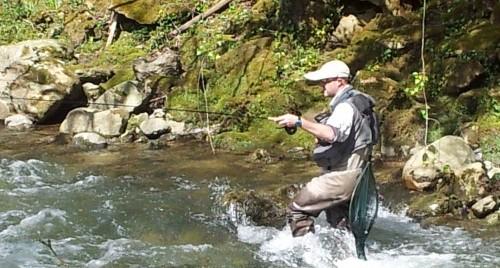Pesca en el río Sella