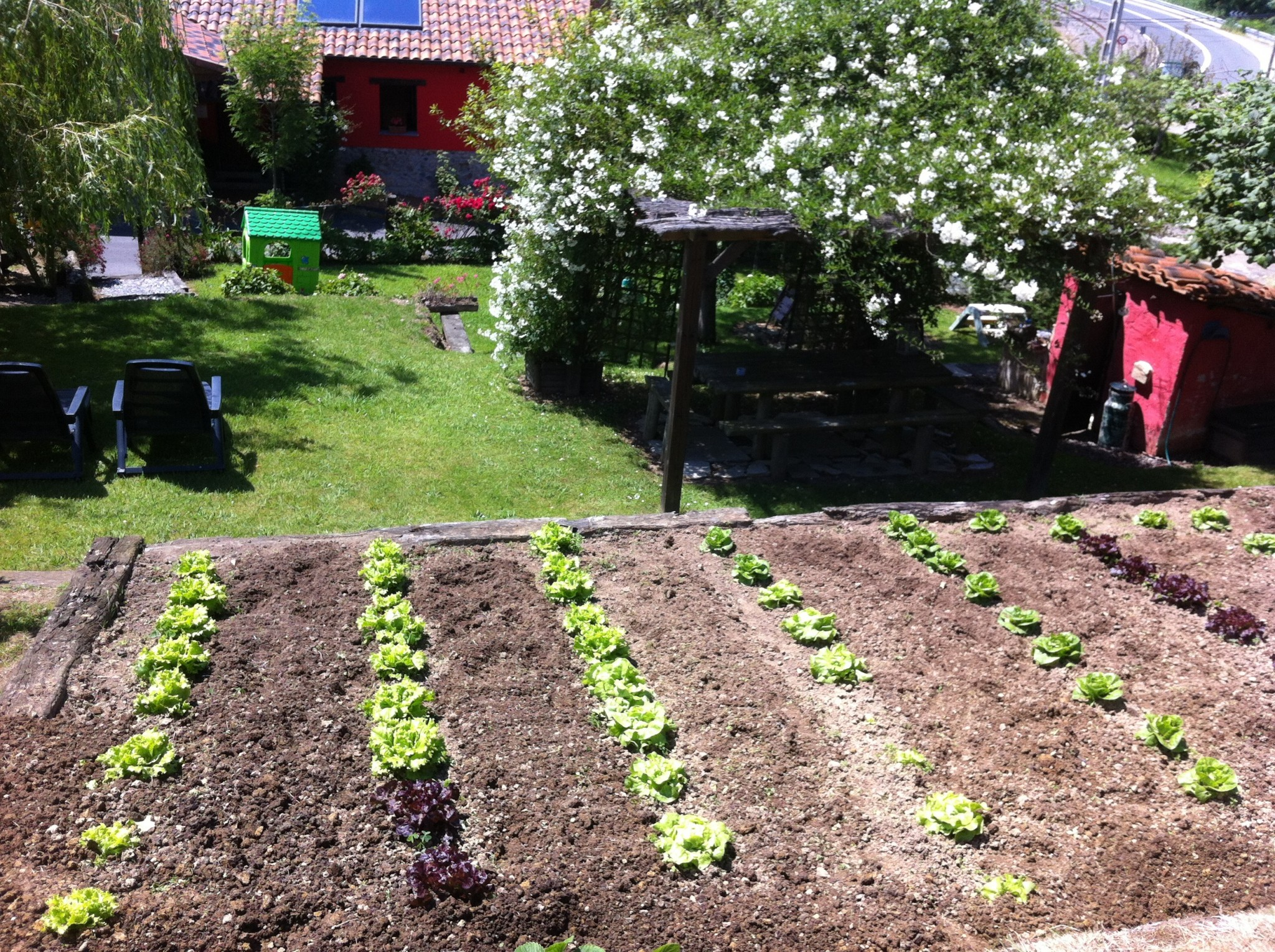 The garden Rincon de Sella Ribadesella cottage