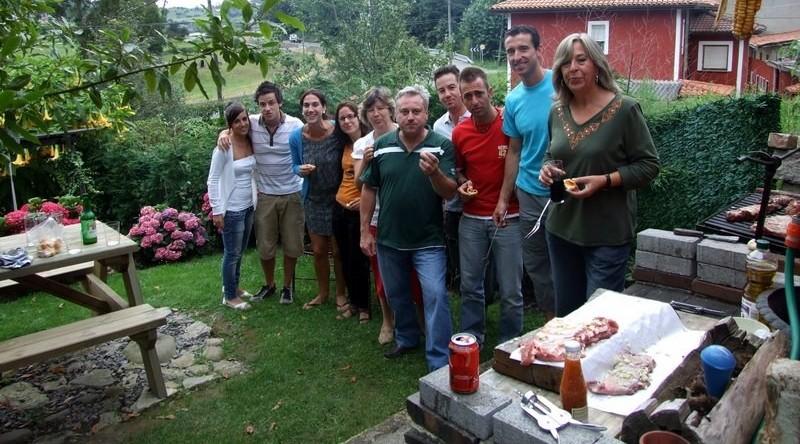 Barbacoa en la casa rural el Rincón del Sella