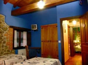 Bedrooms cottage Ribadesella