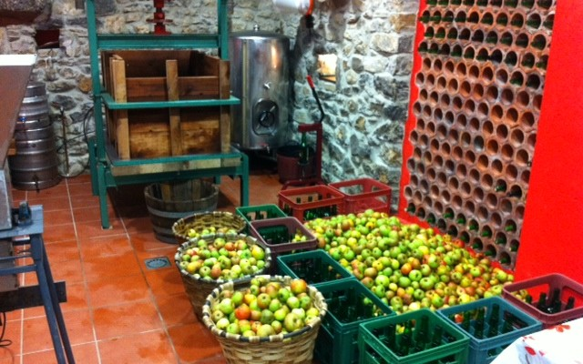 Visit to the llagar cider cellar
