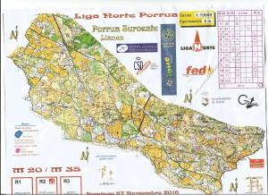 Mapa de la carrera de orientación 2017 Llanes